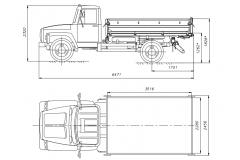 Самосвал ГАЗ-САЗ-35071 с трехсторонней разгрузкой двигатель ММЗ Д-245.7