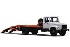 Эвакуатор ГАЗ 3309 ломаная платформа ММЗ